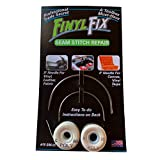 Finyl Fix Seam Stitch Repair Kit - Vinyl, Fabric, Leather, and Heavy Canvas (Includes 2 Heavy Duty Curved...