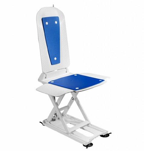 Dietz 14485 inkl Bezug blau Dietz Badewannenlifter Kanjo mit Bezugs-Set blau inklusiv Akku und Ladestation maximale Belastbarkeit von 140 kg,