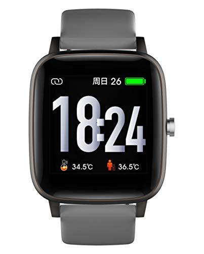 Reloj Smart de Radiant. Colección Queensboro. Reloj Negro con Correa de Silicona Gris y Malla milanesa Gris. IP67. 35mm. Referencia RAS10202.
