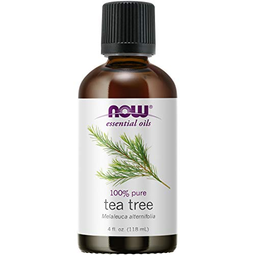 NOW Essential Oils, Tea Tree Oil, Cleansing Aromatherapy Scent, Steam Distilled, 100% Pure, Vegan, Child Resistant Cap, 4-Ounce