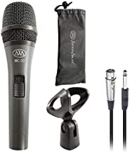 """AxcessAbles MC-20 Professional Dynamic Cardioid Vocal Wired Microphone, Metal Chassis Handheld Mic with 10-ft XLR to ¼"""" TS Cable for Live Performances/Conferences/Lectures/Places of Worship/Karaoke"""