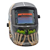 Saldatura Elmetto Nero Maschera di Saldatura del Teschio Camaleonte Auto Oscurante Faccia Full Strumenti di Saldatura Casco Saldatura, A