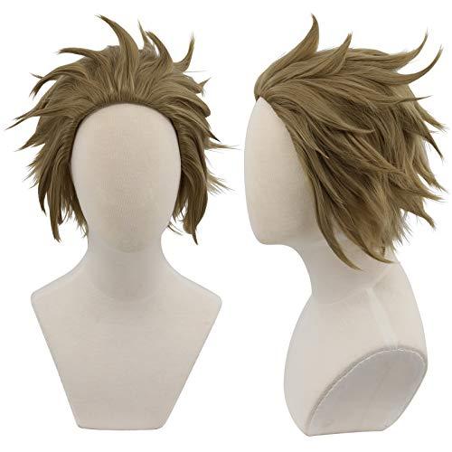 Cfalaicos My Hero Academia Short Flaxen Cosplay Wig