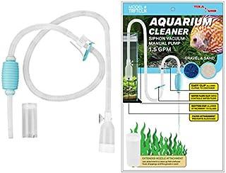 Genuine TERA PUMP Aquarium Cleaner Aquarium Fish Tank Gravel Sand Cleaner with Long Nozzle N Water Flow Controller - BPA Free (model: TRFTCLN)