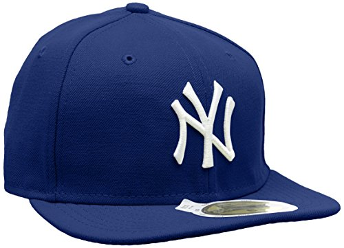New Era Kinder Baseball Mütze Mlb Basic NY Yankees 59Fifty Fitted, Blau (Royal/White), 53 cm