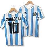 Maradona 10 Maillot de Football Rétro Maison Argentine 1986 Personnalisé, T-Shirt Maradona, Matériau en fibre de polyester, T-Shirt pour adultes, Ne pleure pas pour moi Argentine (M)