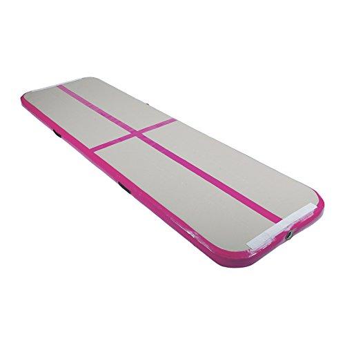 Z ZELUS Air Matte Track 300x100x10cm aufblasbare Gymnastik Tumbling Matte Gymnastikmatte Turnmatte Bodenmatte für zuhause Outdoor Yoga (Rosa)