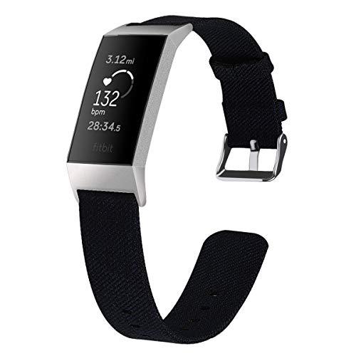 Classicase Correas Reloj Lona Compatible con Fitbit Charge 4 / Charge 4 SE/Charge 3 SE/Charge 3   para Hombre y Mujer (Pattern 4)