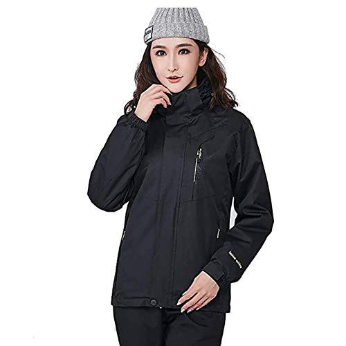 TOPYL 3-in-1 waterdichte winterjas voor dames, winddicht bufferliner, warmer, voor outdoor mountainbike, wandelgolf