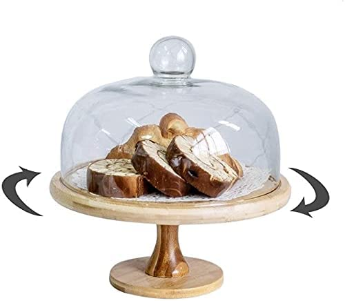ZHANGPP Dome Ranking TOP4 Cake Stand with Chicago Mall Lid Household Rotating Tools