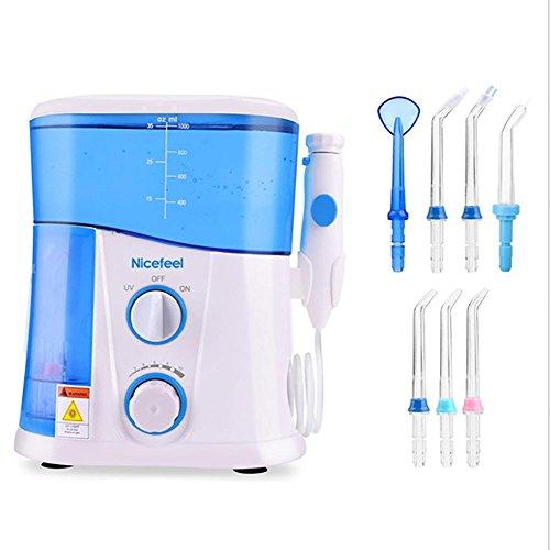 SMX&xh Cepillos de Dientes eléctricos de rotación Irrigador Dental y Nasal, irrigador...