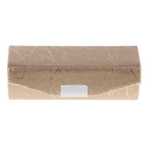 Inzopo Étui en cuir PU pour rouge à lèvres – Sac organisateur pour sac à main – Étui souple durable – Kit de rangement cosmétique avec miroir – Doré