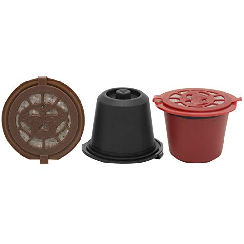 FineInno Wiederverwendbare Kaffeekapseln Adapter Refillable Coffee Capsules Pods Filter Nachfüllbar Kaffeefilter Mehrwegfilter Kompatibel Nespresso Original,Freier Löffel, Pinsel