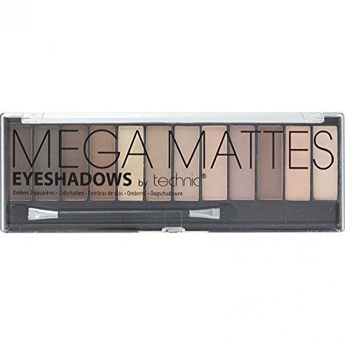 Technic Mega Mattes Eyeshadows Compact - 12-Piece