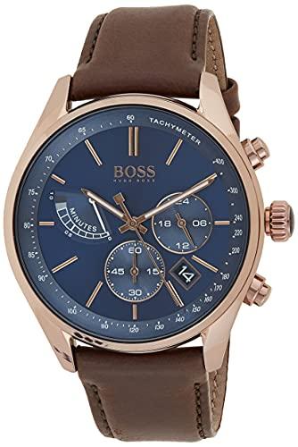 Hugo Boss Homme Chronographe Quartz Montre avec Bracelet en Cuir 1513604