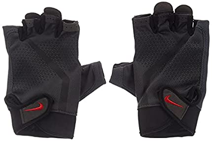 NIKE 937 - Guantes de Fitness para Hombre, Color Gris Antracita/Negro/Amarillo, Hombre, N.LG.C4.937.MD, Anthracite/Black/lt c, Medium