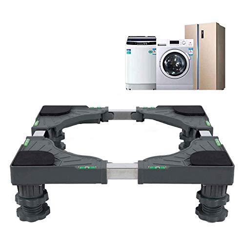 jasdel – Universal Mobile Base Dorm Fridge Stand with 4 Strong Feet Multi-Functional Adjustable Base for Adjustable…