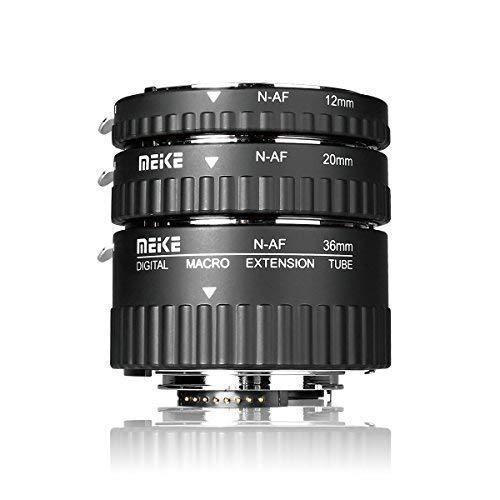 Meike MK-N-AF1-A Macro Electronic Mount Auto Foucs Macro Metal Extension Tube Adapter For Nikon DSLR Camera D80 D90 D300 D300SD800 D3100 D3200 D5000 D51000 D5200 D7000 D7100 etc