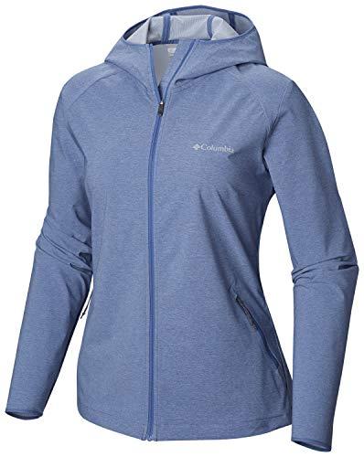 Columbia Softshell Jacke für Damen, HEATHER CANYON SOFTSHELL JACKET, Polyester, Blau (Blue Dusk Heather), Gr. S, 1717991