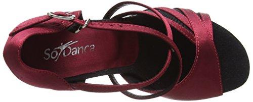So Danca Damen Bl162 Tanzschuhe-Standard & Latein, Rot (Burgundy), 38.5 EU - 7
