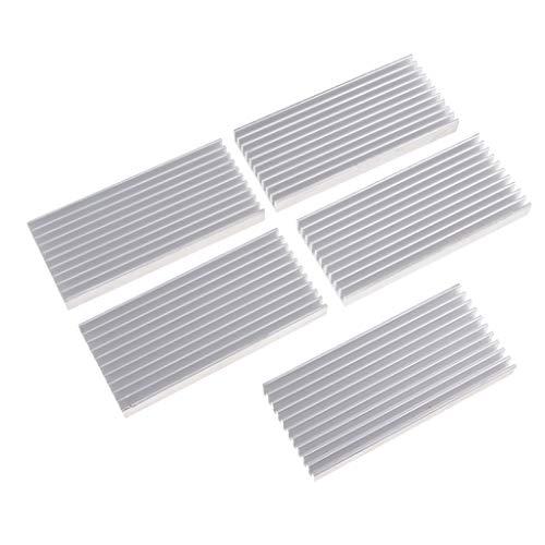 5stk Aluminum Cooling Fin Heat Sink Cooler Prozessor Kühler Kühlkörper für CPU LED Transistor
