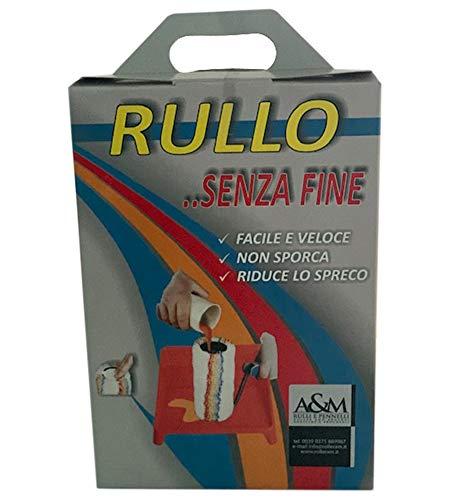Rullo con Serbatoio - Anti goccia - Diametro rullo 8,5 cm - Vernicia Di Continuo 6-10 mq - Facile e Veloce! Non sporca! Riduce lo spreco!