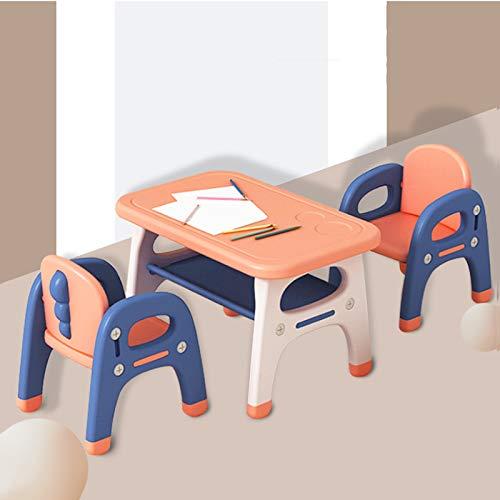 USWEAR Tabla De Usos Múltiples Escuela En Casa Y Juego De Sillas, Adaptable Juego De Muebles para Niños, Kids' Desk Aprendizaje, Certificado Y Seguro