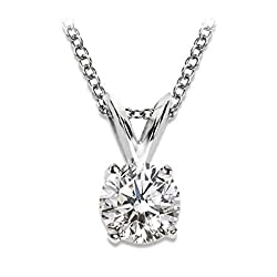 Super sparkling diamond of high colour and superb clarity Most popular setting and the natural diamond really sparkles comfortable white gold chain included - choice of sizes We only sell jewellery and are specialists in providing great value and qua...