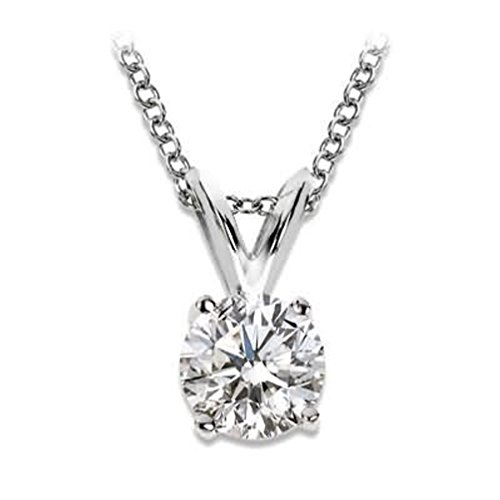 Solitaire - Collar con colgante de diamante...