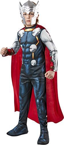 Rubies- Disfraz Oficial Thor Avengers Classic niños, Detalles Impresos, Color Negro, XS (Rubie'S I-702031XS)