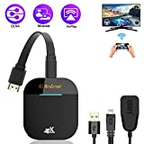 WiFi Display Dongle, FayTun 4K Wireless HDMI Display Adapter, Dual-Band 5G WiFi Wireless Display Receiver, iPhone iPad Laptop Android Phone Miracast Dongle for HD TV, Projector, Monitor