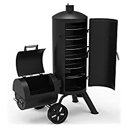 "Dyna-Glo Signature Series DGSS1382VCS-D Heavy-Duty Vertical Offset Charcoal Smoker &amp; Grill. <a href=""https://www.amazon.com/gp/product/B06W5R4XTQ/ref=as_li_tl?ie=UTF8&amp;camp=1789&amp;creative=9325&amp;creativeASIN=B06W5R4XTQ&amp;linkCode=as2&amp;tag=ris15-20&amp;linkId=67e1a6ff934019913b55760c3ed6f775"" target=""_blank"" rel=""nofollow noopener noreferrer""><span style=""text-decoration: underline; color: #0000ff;""><strong>B</strong></span><span style=""text-decoration: underline; color: #0000ff;""><strong>uy it on Amazon.</strong></span></a>"