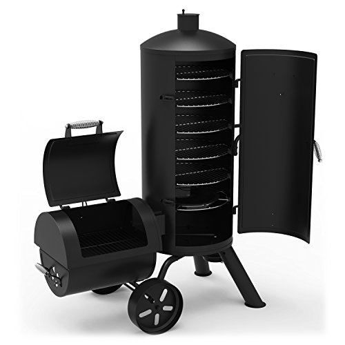 Dyna-Glo Signature Series DGSS1382VCS-D Heavy-Duty Vertical Offset Charcoal Smoker &...