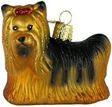 Old World Christmas Ornaments: Yorkie Glass Blown Ornaments for Christmas Tree