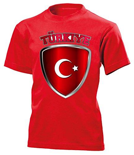 Turkei Turkey Türkiye Fanshirt Fussball Fußball Trikot Look Jersey Kinder Kids Unisex t Shirt Tshirt t-Shirt Fan Fanartikel Outfit Bekleidung Oberteil Hemd Artikel