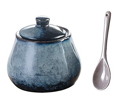 Ceramics Weave Sugar Bowl Storage Jar Seasoning...