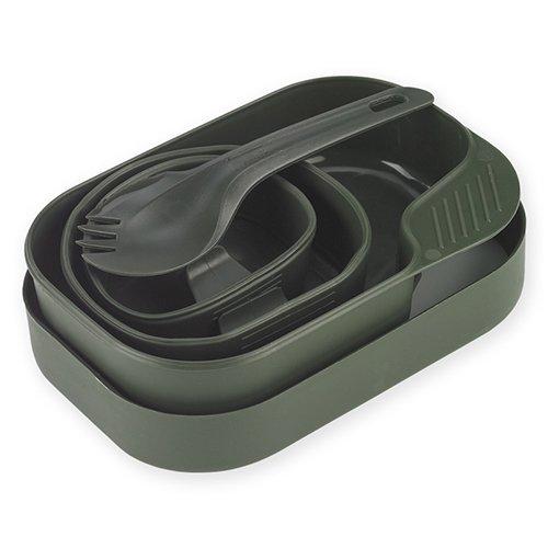 Wildo® Camp-A-Box® Duo Complete Outdoor-Essgeschirr-Set 8-teilig, Farbe:Olive