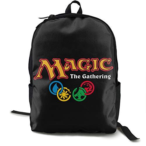 MTG Magic The Gathering Mochila, mochila de día para escuela, trabajo y universidad, mochila deportiva y mochila escolar con compartimento para portátil y respaldo acolchado