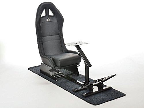 FK-Automotive FK Gamesitz Spielsitz Rennsimulator eGaming Seats Suzuka schwarz mit Teppich FKRSE17935