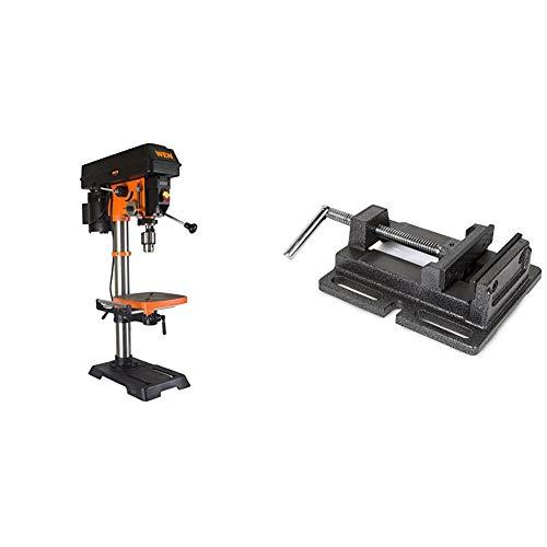 WEN 4214 12-Inch Variable Speed Drill Press,Orange & 424DPV 4-Inch Cast...