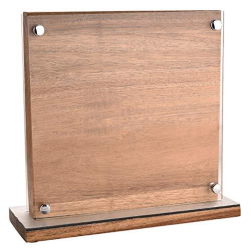 Hemoton - Bloque de cuchillo magnético con soporte de madera para cuchillos, soporte magnético, para cocina, utensilio de cocina
