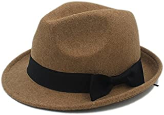 SHANGRUIYUAN-Hat Casual hat Women Men Chapeau Femme Fedora Hat for Gentleman Elegant Ladies hat (Color : Gray, Size : 57-58cm)