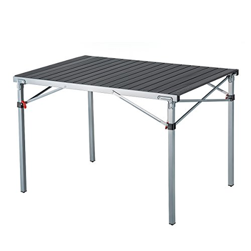 KingCamp Folding Camping Table Aluminum Roll Up Top Weatherproof and Rust Resistant Protable Compact Table for Outdoor Camp Picnic Backyard Cookout Travel