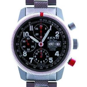 Zeno Army Divers De Luxe Tri-Compax Chronograph Ref. 6559 A-SV-MT image