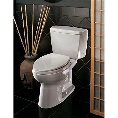 Toto CST744EF.10No.01 Eco Drake Two-Piece Toilet, 1.28-GPF, Cotton