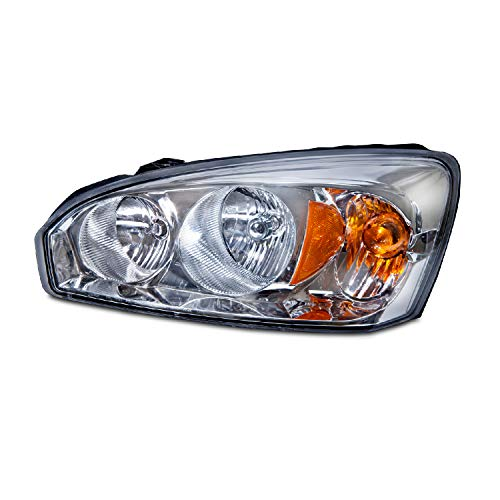 Left Driver Side Head Light Assembly for 2004-2008 Chevy Malibu Maxx, Maxx LS, Maxx LT, Maxx LTZ, Maxx SS - Parts Link # GM2502235 OE # 15851373 - Includes the Bulb