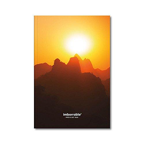 Imborrable Paisaje - Cuaderno de notas con interior liso, 144 páginas, B5, 16.5 x 24.5 cm, color amarillo