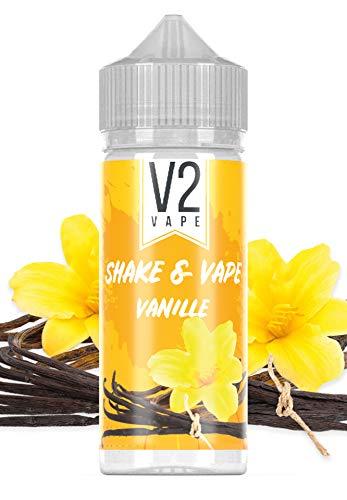 V2 Vape Shake and Vape Vanille | 20ml hochdosiertes Aroma-Konzentrat zum mischen mit Base für E-Liquid | Longfill, zum direkt dampfen, keine Reifezeit | 0mg nikotinfrei