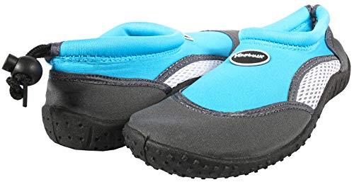 Ultrapower Aqua Schuhe Kinder Wasserschuhe | Neopren Badeschuhe für Mädchen Jungs I Aquaschuhe I Strandschuhe geschlossen I Schwimmschuhe weich I Bathing Shoes Kids I AS3,Gr. 28,Hellblau