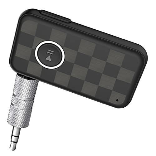 MILISTEN Adaptador de Audio Inalámbrico Receptor de Audio Inalámbrico Dispositivo Adaptador Montado en El Vehículo para Audio de Amplificador de Potencia Coche 3. 5Mm